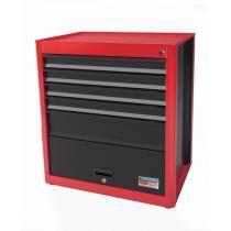 Armário Modular para Ferramentas 1 Porta 5 Gavetas Tramontina PRO Vermelho -