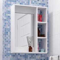 Armário para Banheiro Bbn 03 06 Branco - Brv Móveis