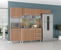 Armário para Cozinha Carol 4 Peças Branco Montana - Madine Móveis -