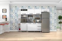 Armário para Cozinha Natália 4 Peças c/ Cantoneira Branco  - Madine Móveis -