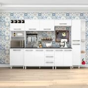 Armário para Cozinha Natália 7 Peças Branco - Madine Móveis -
