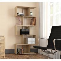Armário para Livros com 5 Nichos Office Plus Appunto - Castanho - Appunto