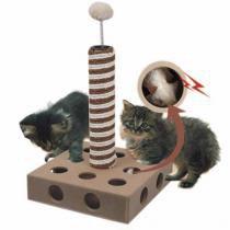 Arranhador Para Gato Postinho c/ Ratinho - American pets