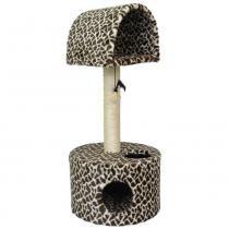 Arranhador para Gatos 2 Plataforma Pelúcia estampada - Girafa - São Pet