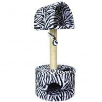 Arranhador para Gatos 2 Plataforma Pelúcia estampada - Zebra - São pet