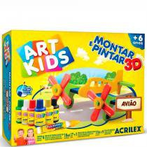 Art Kids Montar E Pintar 3d Avião - Acrilex - Acrilex