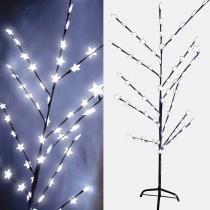 Arvore Abajur 71 Led Decoracao Luminaria Natal Cerejeira Estrela Grande 1,46m Branco ( 89225 estrela) - Abm