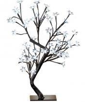 Arvore Abajur Luminaria Pisca de Natal 96 LEDs Cerejeira 8 Funções 80cm Branco (NTD80074) - Abm