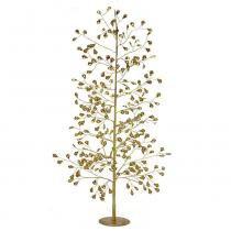 Árvore de Mesa de Metal Dourada Santini Christmas 86cm Brilhance -