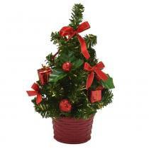Árvore Decorada Santini Christmas 18cm Vermelho Tradição -