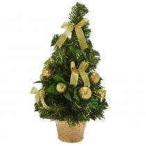 Árvore Decorada Santini Christmas 42cm Festa Dourada -