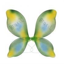 Asa com Flor Central Multicolorida Verde e Amarelo Brasil - Festabox