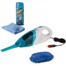 Aspirador automotivo 90w + toalha mágica + luva automotiva - Vendasshop utensílios limpeza
