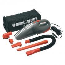 Aspirador de Pó para Auto com Plug Acendedor de Cigarros 12V AV1500LA BLACK  DECKER -
