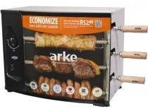 Assador a Gás GLP Rotativo Arke AGR 03  - 3 Espetos