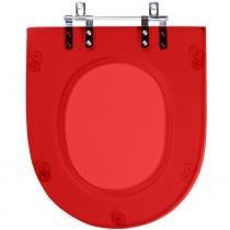 Assento Sanitario Poliester Luna Vermelho Translucido para Vaso Icasa - Pontto Lavabo