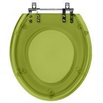 Assento Sanitario Poliester Ravena Verde Malva transparente para bacia Deca - Pontto lavabo