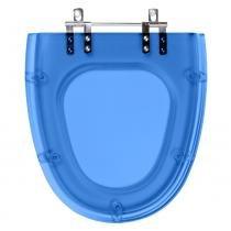 Assento Sanitario Poliester Soft Close Absolute Azul Translucido para vaso Ideal Standard - Pontto Lavabo