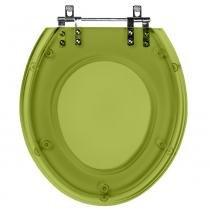 Assento Sanitario Poliester Soft Close Diamantina Verde malva Translucido para Vaso Icasa - Pontto Lavabo