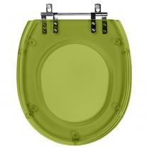Assento Sanitario Poliester Soft Close Massima Verde Malva Translucido para vaso Incepa - Pontto Lavabo