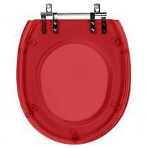 Assento Sanitario Poliester Soft Close Massima Vermelho Translucido para vaso Incepa - Pontto Lavabo