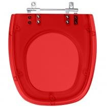 Assento Sanitario Poliester Thema Vermelho Translucido para vaso Incepa - Pontto Lavabo