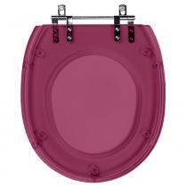 Assento Sanitario (tampa de vaso) Poliester Aspen Rose Translucido para bacia Deca - Pontto Lavabo
