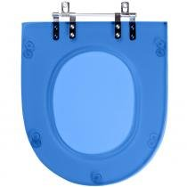 Assento Sanitario (tampa de vaso) Poliester Belle Epoque Azul Translucido para bacia Deca - Pontto Lavabo