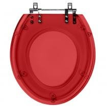 Assento Sanitario (tampa de vaso) Poliester Targa Vermelho Translucido para bacia Deca - Pontto Lavabo