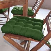 Assentos para cadeira Tecido Oxford 40x40cm Futon CouroCor Verde Bandeira - Couro Cor  Cia
