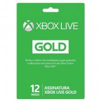 Assinatura Xbox Live Gold 12 Meses Microsoft -