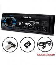 Auto radio positron sp2310bt, mp3 bluetooth usb leitor micro sd card 45w -