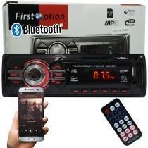Auto Rádio Som Mp3 Player Automotivo Carro Bluetooth First Option 6620BSC Fm Sd Usb Controle -