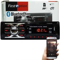 Auto Rádio Som Mp3 Player Automotivo Carro Bluetooth First Option 6660BS Fm Sd Usb Aux -