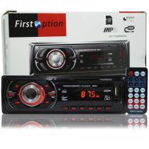 Auto Rádio Som Mp3 Player Automotivo Carro First Option 8650 Fm Sd Usb Controle -