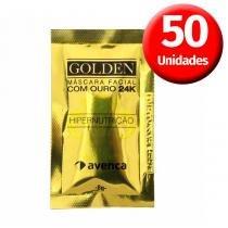 Avenca - Kit Máscara Facial GOLDEN com Ouro 24K - 50 Unidades - Avenca