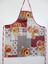 Avental plástico estampado grande flores - Recanto da costura