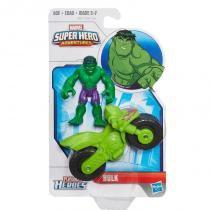B0820 marvel playskool  super hero hulk com motocicleta - Hasbro