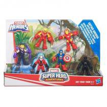 B5020 marvel playskool  super hero c/6 figuras guerra civil - Hasbro