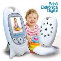 Babá Eletrônica Câmera Sem Fio Visão Noturna Lcd Digital 2p - Powerpack