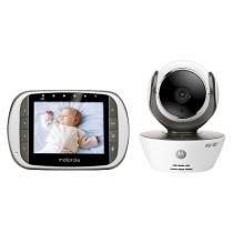 "Baba eletrônica Motorola Mbp-36s, Tela LCD 3.5"",Visão Noturna,Camera Giro 360º,Controle Volume -"