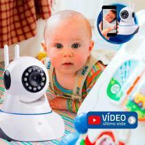 Baba Eletrônica Sem Fio Wifi HD 720p Robo Wireless, Com áudio, Grava em Cartão SD, com 2 Antenas e Visão Noturna - Tudo forte
