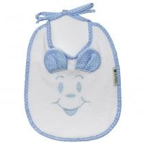 Babador Cuca Baby-Orelha Azul - Cuca criativa