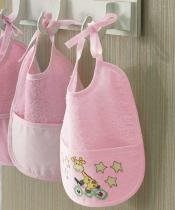Babador P/ Bordar - Baby Line - Rosa 5211 - Liso - Dohler - Dohler