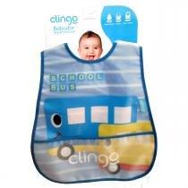 Babador para Bebê Impermeável com Bolso Clingo - School Bus - Clingo