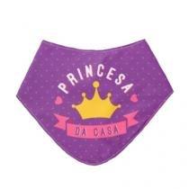 Babador Princesa da Casa Tecido - Lilás - Único - Gorila Clube
