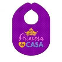Babador Princesa da Casa Tecido - Roxo - Único - Gorila Clube