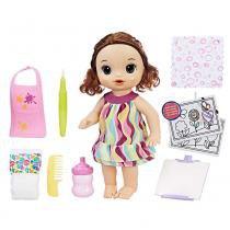 Baby Alive Pequena Artista Morena - Hasbro - hasbro