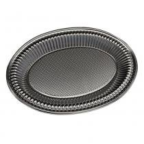 Baixela Oval Metalizada Prata Borda Lisa Nº102 44,7 x 31 x 2,5cm Neoform -