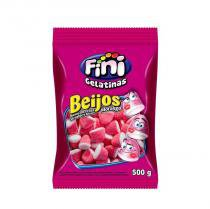 Bala de Gelatina Beijos de Morango Fini - 500g festabox